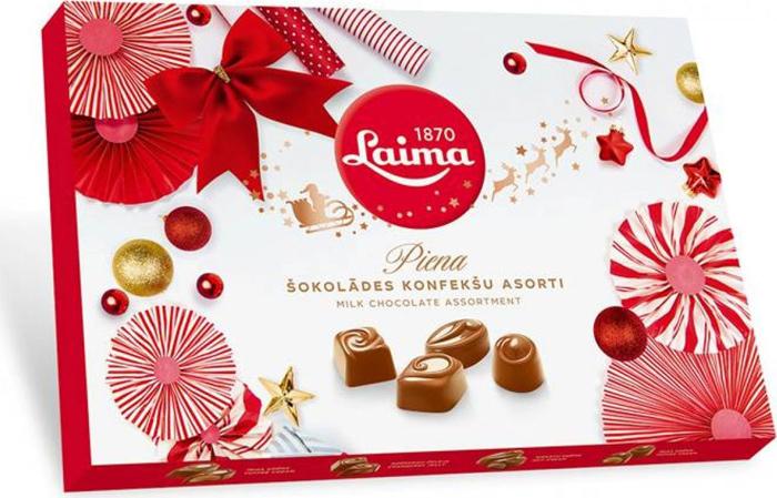 все цены на  Laima ассорти конфет в молочном шоколаде, 215 г  онлайн