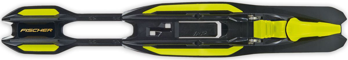 """Юниорские классические крепления для лыж """"Fischer"""" с платформой IFP. Крепления Turnamic устанавливаются и регулируются без дополнительных инструментов. Большой поворотный рычаг.   Технологии:  - Tool Free. - Flowflex. - Torsion-proofed body.    Как выбрать лыжи ребёнку. Статья OZON Гид"""
