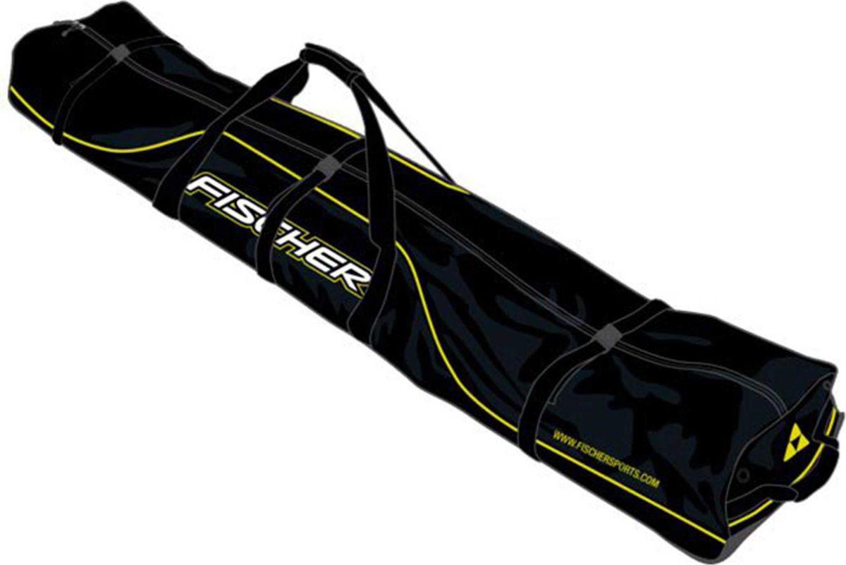 Лыжный чехол Fischer XC Performance Light, на 10 пар, длина 210 см. Z02315Z02315Лыжный чехол Fischer XC Performance Light, выполненный из полиэстера, предназначен на 10 пар лыж. Чехол имеет двусторонний замок, затягивающиеся ремни-застежки, плечевые ремни. Облегченный чехол без колес. Длина: 210 см.