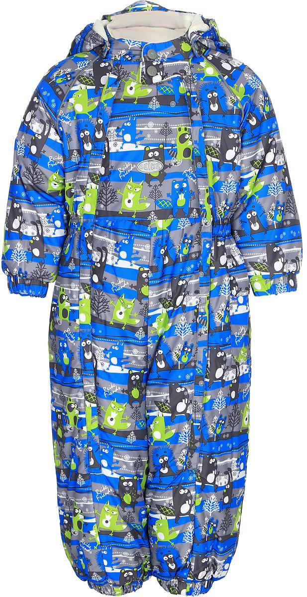 Комбинезон утепленный для мальчика Reike Веселые друзья, цвет: синий, зеленый. 395207_FFF blue/green. Размер 74395207_FFF blue/greenКомбинезон Reike Веселые друзья выполнен из ветрозащитной, водоотталкивающей и дышащей мембранной ткани, декорированной ярким принтом. Нежная велюровая подкладка из натурального хлопка обеспечивает дополнительный комфорт и тепло. Эластичные манжеты на рукавах и штанинах и ветрозащитные планки вдоль двух молний не допускают проникновения холодного воздуха. Комбинезон дополнен съемным регулирующимся капюшоном с козырьком, боковым кармашком с клапаном на липучке, светоотражающими деталями на груди и спинке и съемными штрипками.Базовый уровень.Коэффициент воздухопроницаемости комбинезона: 2000гр/м2/24 ч.Водоотталкивающее покрытие: 2000 мм.
