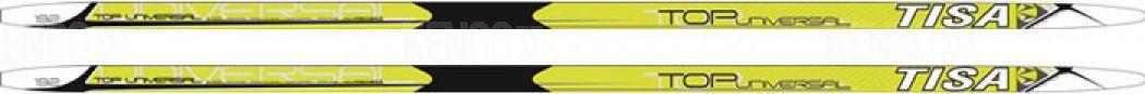 Беговые лыжи Tisa Top Universal, 187 см. N90515N90515Универсальные лыжи Tisa Top Universal для любителей и начинающих лыжников. Конструкция Air Channel делает лыжи легкими, а обработка скользящей поверхности Ultra Tuning - быстрыми. Усиленные канты обеспечивают дополнительную торсионную жесткость. Профиль: 41-44-44.