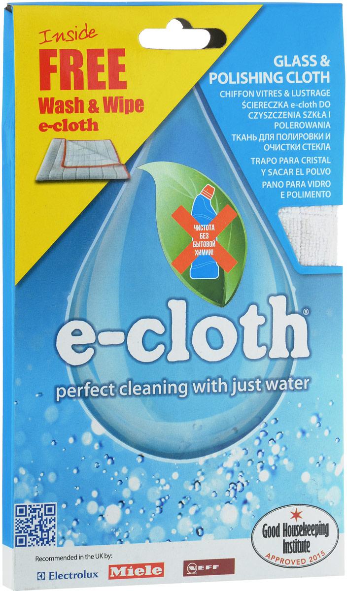 Набор салфеток E-cloth для полировки и очистки стекла, цвет: белый, желтый, 2 шт20244_белый,желтыйНабор салфеток E-cloth для полировки и очистки стекла, цвет: белый, желтый, 2 шт