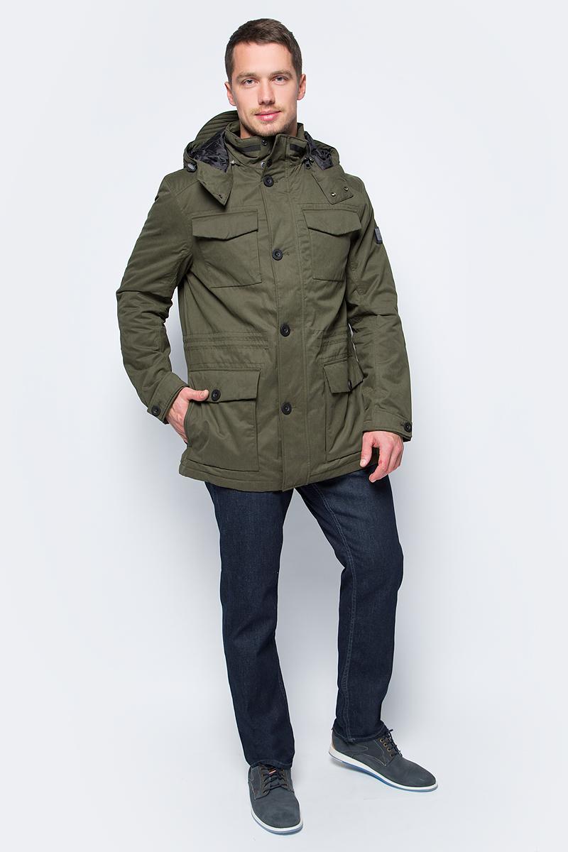 Куртка мужская Tom Tailor, цвет: зеленый. 3533521.00.10_7769. Размер M (48)3533521.00.10_7769