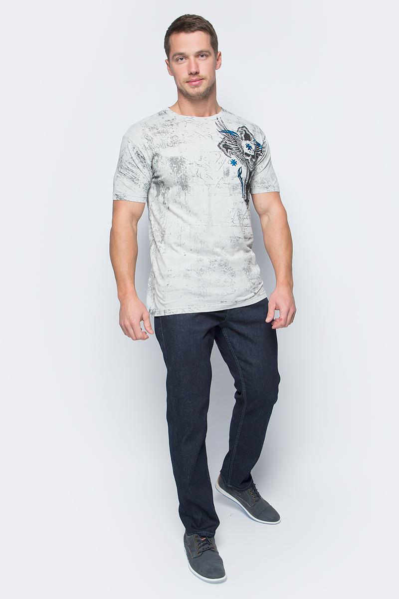 Футболка мужская Affliction Xtreme Couture Death Lord, цвет: серый. X1368. Размер S (46)X1368Футболка мужская Affliction выполнена из натурального хлопка. Модель с круглым вырезом горловины и короткими рукавами оформлена оригинальным принтом.