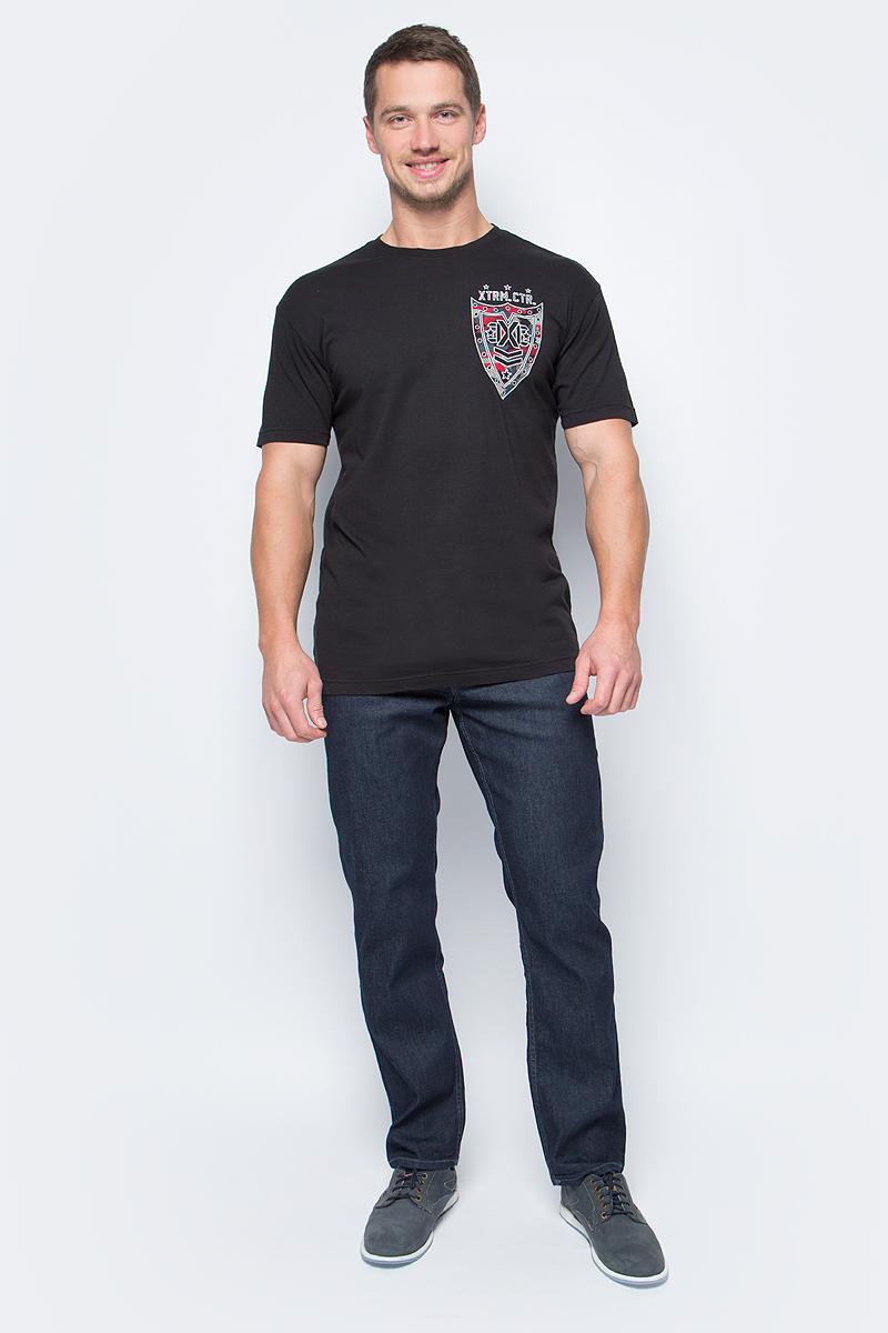 Футболка мужская Affliction Xtreme Couture Full Brigade, цвет: черный. X1498. Размер 3XL (56) футболка мужская affliction xtreme couture inhuman skulls цвет бежевый x1384 размер 3xl 56