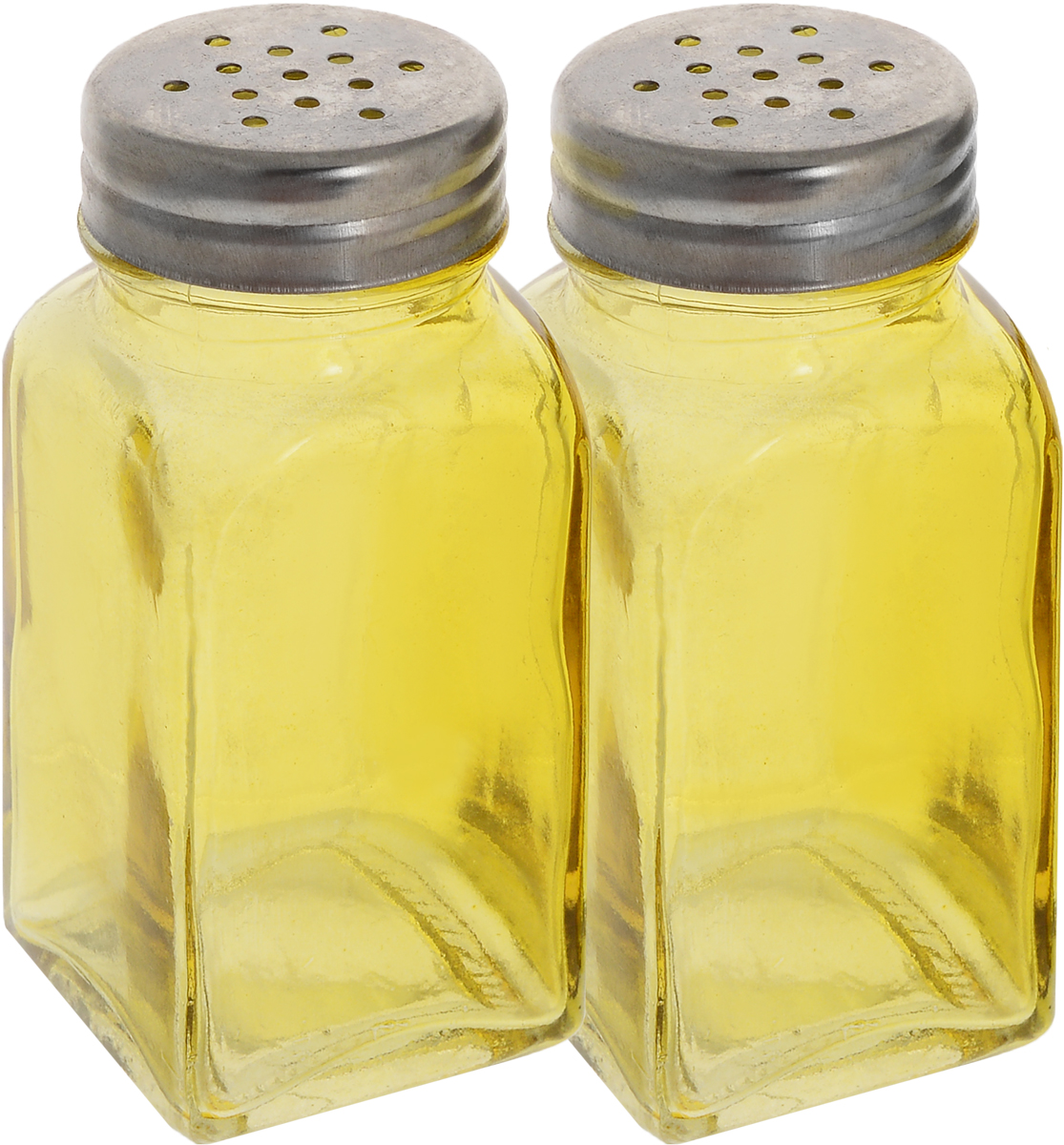 Набор для специй Доляна Галерея, цвет: желтый, 9 см, 2 шт952710_желтыйНабор для специй Доляна Галерея изготовлен из высококачественной нержавеющей стали и цветного стекла. Оригинальные баночки для специй сохранят свежесть и вкус ваших специй.Размер баночек: 9 х 4 х 4 см.Диаметр горлышка: 2,5 см.Диаметр отверстия: 2 мм.