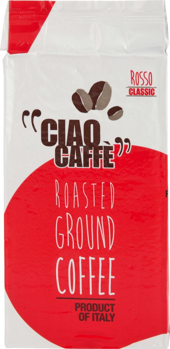 Ciao Ciao Caffe Rosso Classic кофе молотый, 250 г ciao caffe rosso classic кофе в зернах 1 кг