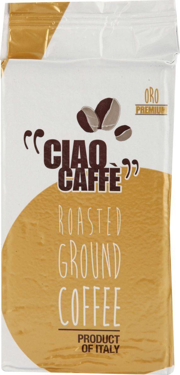 Ciao Caffe Oro Premium кофе молотый, 250 г8003012003122Кофе Ciao Caffe ORO Premium - натуральный жареный высший сорт, в зернах. Средняя обжарка. Арабика - 100%.Кофе: мифы и факты. Статья OZON Гид