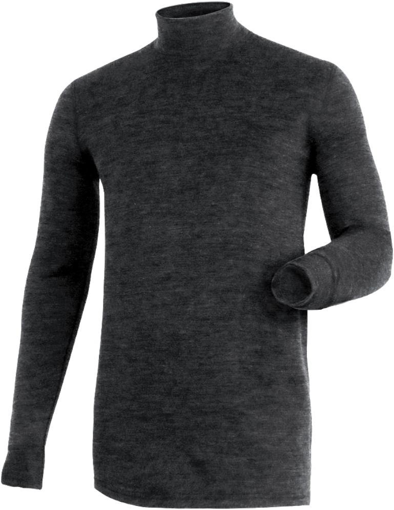 Фуфайка мужская Laplandic Heavy, цвет: темно-серый. L21-2010N/DGY. Размер XXL (56)L21-2010N/DGYСочетание шерсти и акрила в составе модели, а также специальное плетение обеспечивают эффективное сохранение тепла. Внутренний слой из полиэстера способствует эффективному выводу влаги. Начес на внутренней стороне полотна улучшает теплосберегающие качества за счет увеличенной воздушной прослойки. Температурные условия: очень холодно. Физическая активность: средняя. Состав: внеш. слой — 10% шерсть, 50% акрил, 40% вискоза; внутр. слой — 100% полиэстер, внутренняя сторона с начесом ПЛОТНОСТЬ: 275 г/м?