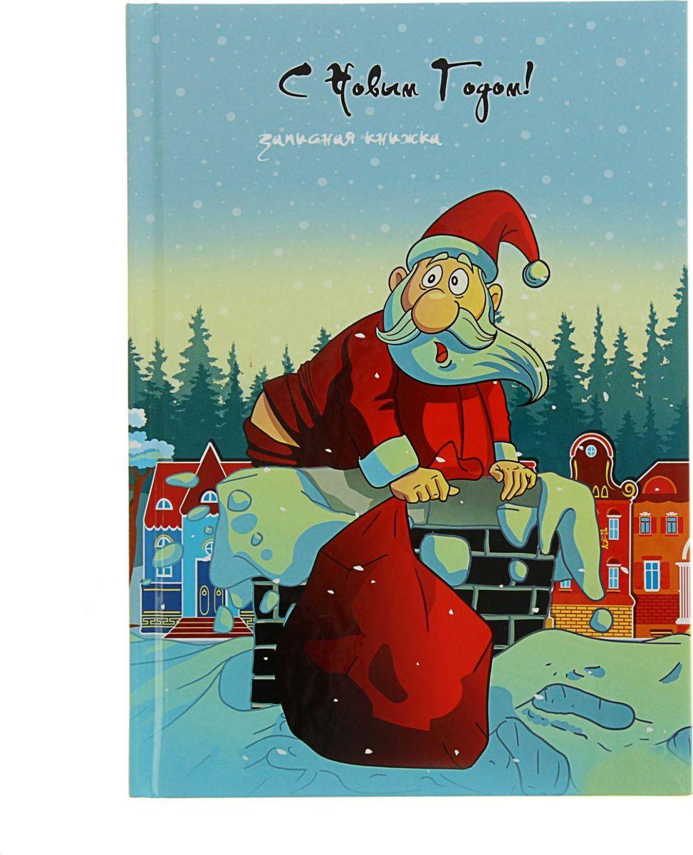 Проф-Пресс Записная книжка Санта в трубе1639268Блокнот с яркой новогодней обложкой приятно удивит получателя. Сувенир сохранит списки дел, заметки, важную информацию и раскроет творческий потенциал владельца.