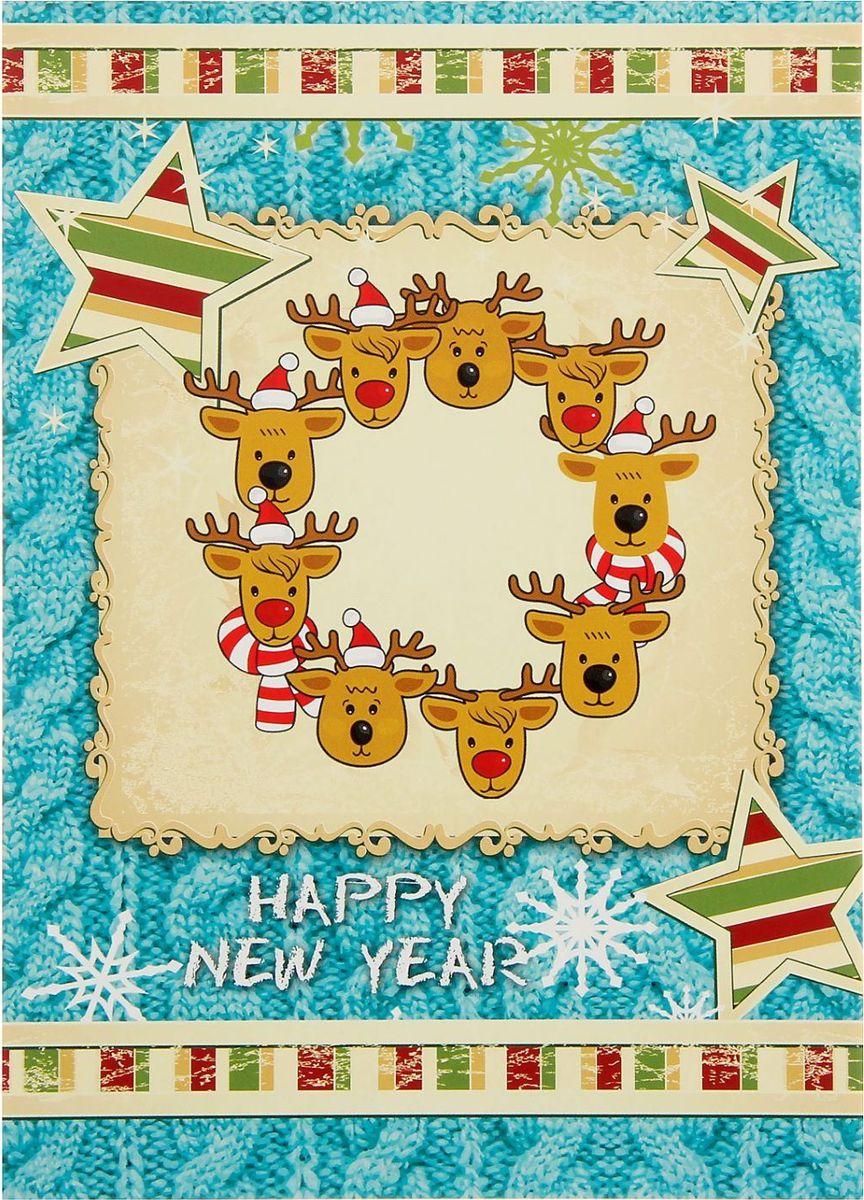 Проф-Пресс Блокнот цвет голубой1776279Блокнот с яркой новогодней обложкой приятно удивит получателя. Сувенир сохранит списки дел, заметки, важную информацию и раскроет творческий потенциал владельца.