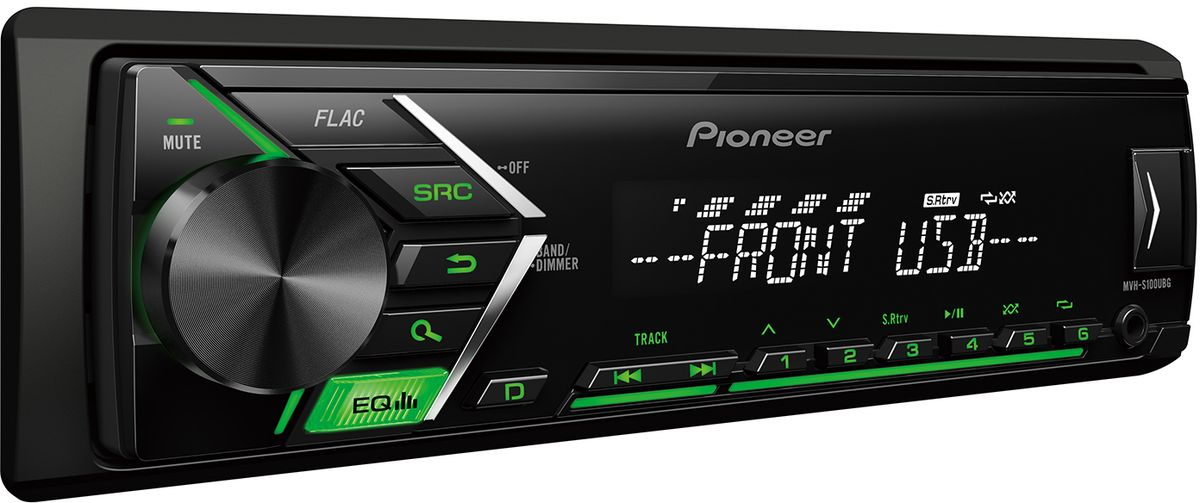 Pioneer MVH-S100UBG автомагнитола автомагнитола pioneer flash mvh s100ubg