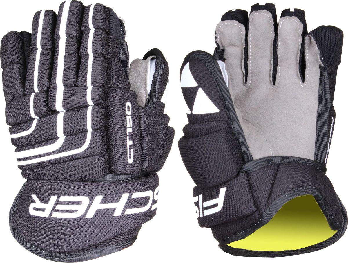 Перчатки хоккейные Fischer CT150, цвет: черный. Размер 14H03616,BLKОсобенности:- Классическая конструкция с 4 роллами- Широкое запястье- Ладошка из синтетической кожи NASH- Трикотажная подкладка