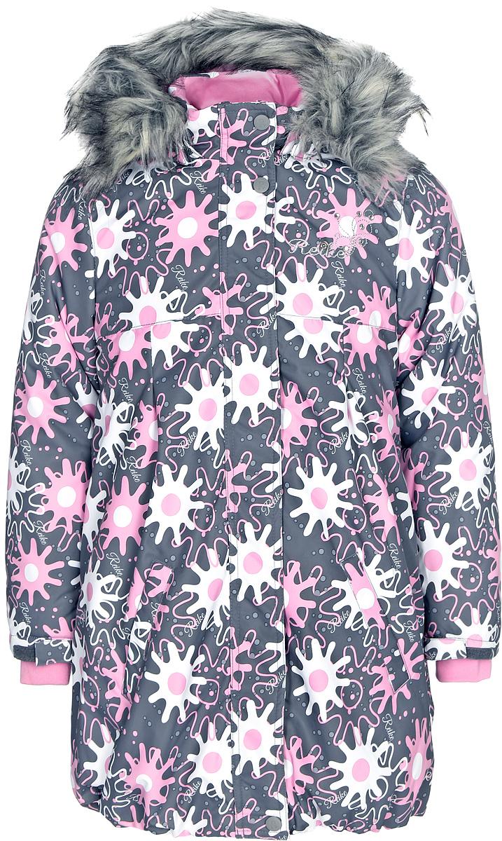 Куртка для девочки Reike, цвет: серый. 3944610_WSR grey. Размер 1043944610_WSR grey
