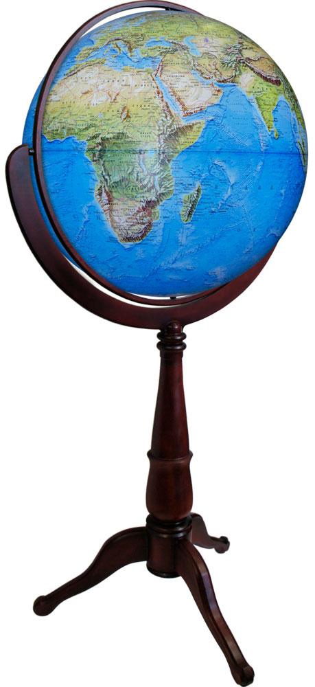 Глобусный мир Глобус Земли Стандарт физический напольный 640 мм10401Глобус земли с физической картой мира выполнен в высоком качестве, с четким и ярким изображением. На глобусе указаны континенты, острова, горы, реки, крупные города и многое другое.Глобус легко вращается вокруг своей оси. Надписи на глобусе сделаны на русском языке. В комплект входит: глобус, подставка..