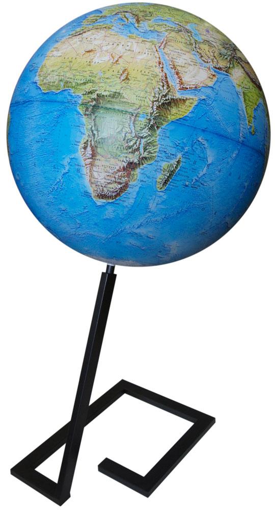 Глобусный мир Глобус Земли Металл физический напольный 640 мм10403Глобус земли с физической картой мира выполнен в высоком качестве, с четким и ярким изображением. На глобусе указаны континенты, острова, горы, реки, крупные города и многое другое. Глобус легко вращается вокруг своей оси.Надписи на глобусе сделаны на русском языке.В комплект входит: глобус, подставка..