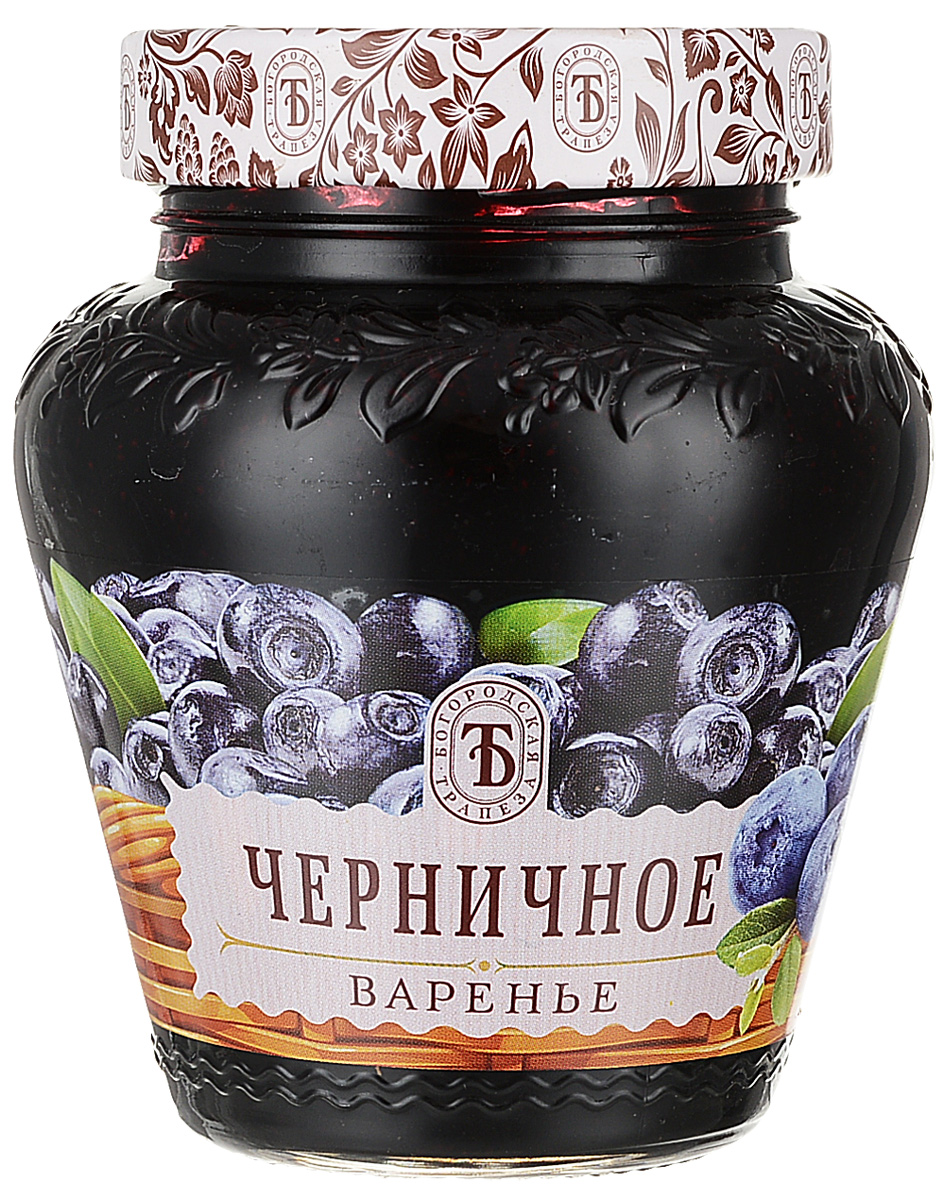 Богородская трапеза варенье черничное, 420 г побеги черники в аптеке