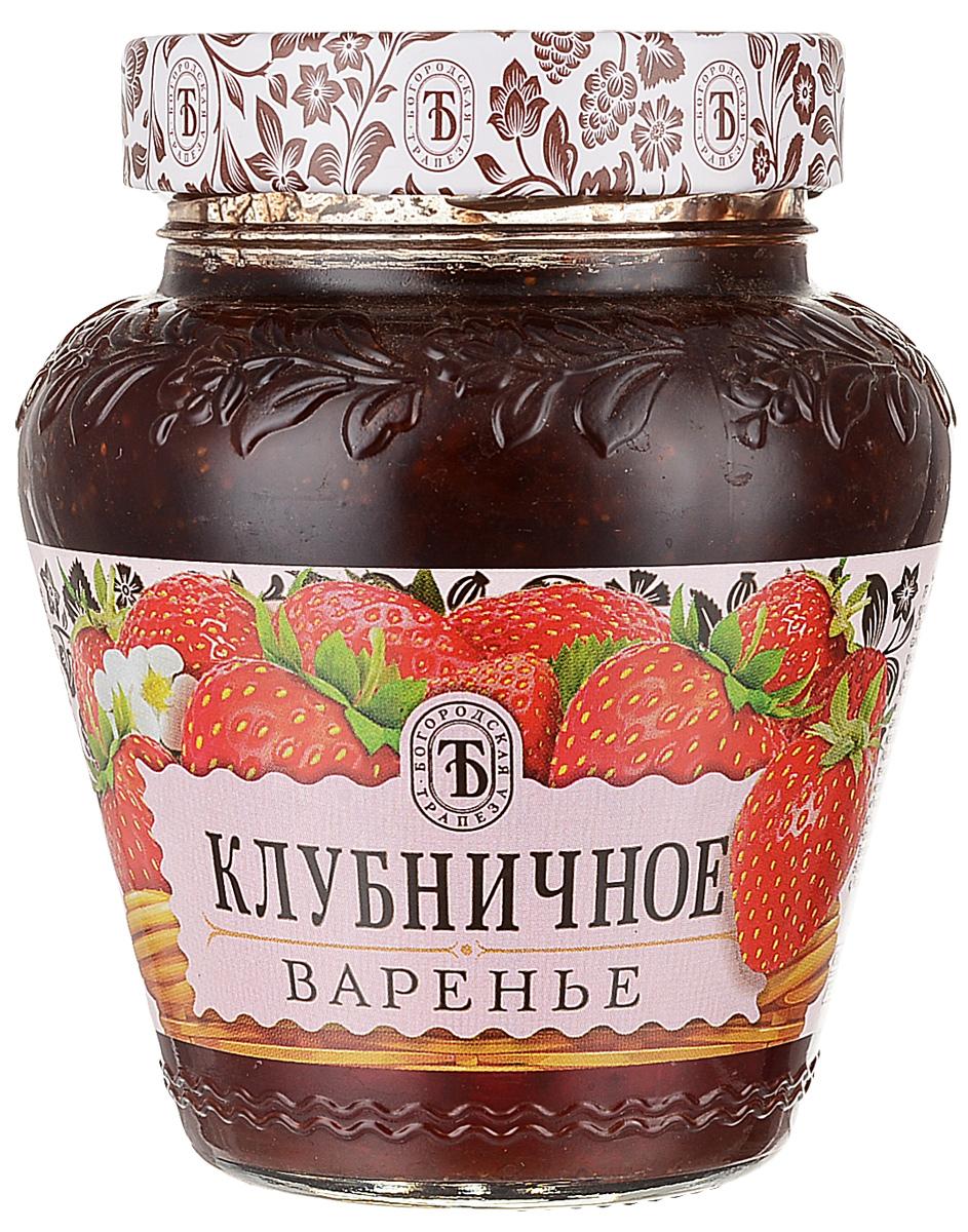 Богородская трапеза варенье клубничное, 420 г богородская трапеза варенье черносмородиновое 420 г
