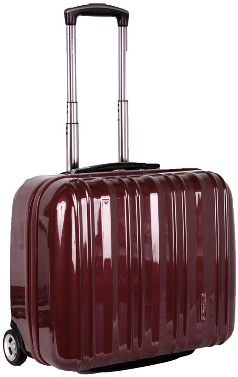 Чемодан Polar, цвет: бордовый, 40,5 л. Р1132(16)Р1132(16)Вес чемодана имеет большое значение после введения новых правил по авиа перевозке.Пластиковый чемодан Polar весит намного меньше, чем обычные чемоданы из традиционных материалов.Материал ABS-пластик максимально устойчив к деформации. Кроме того, он обладает повышенной гибкостью, что позволяет материалу не ломаться и не трескаться при внешних нагрузках. Чемодан отлично подходит для перевозки хрупких вещей. Пластик отлично защищает внутреннее содержание от любых внешних воздействий.Чемодан оснащен выдвижной ручкой (выдвигается на 60 см) и внутренней тележкой. Внутри расположены фиксаторы-зажимы для ваших вещей. Также предусмотрен кодовый замок. Эта универсальная модель идеально подойдет для краткосрочных командировок и позволит вам взять с собой, помимо ноутбука, еще и все самые необходимые для вас вещи.