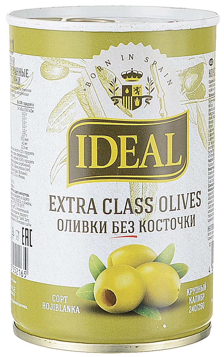 Ideal оливки без косточки extra class, 300 г оливки без косточки принцесса вкуса 300 мл