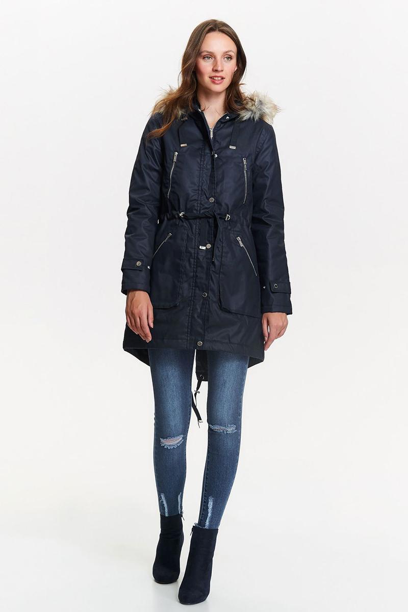 Парка женская Top Secret, цвет: синий. SKU0808GR. Размер 34 (42) woolrich черная парка с накладными карманами