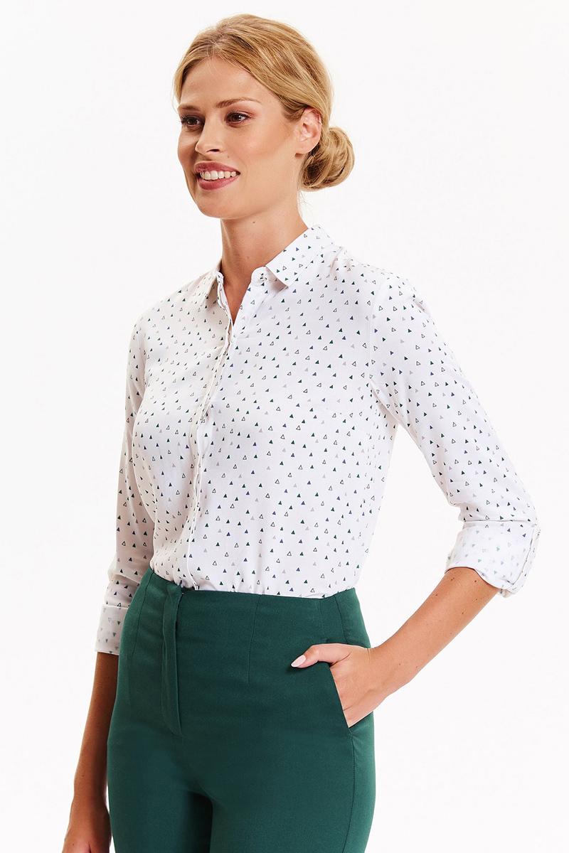 Рубашка женская Top Secret, цвет: белый. SKL2354BI. Размер 40 (48)SKL2354BIСтильная женская рубашка Top Secret, выполненная из высококачественного материала, подчеркнет ваш уникальный стиль и поможет создать оригинальный образ. Рубашка с длинными рукавами и отложным воротником застегивается на пуговицы спереди. Манжеты рукавов также застегиваются на пуговицы. Такая рубашка будет дарить вам комфорт в течение всего дня и послужит замечательным дополнением к вашему гардеробу.