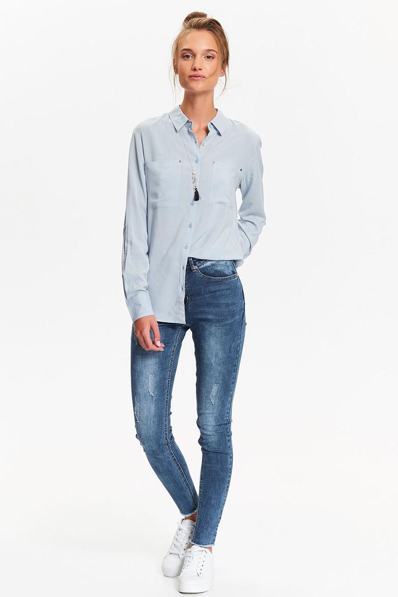 Рубашка женская Top Secret, цвет: синий. SKL2404NI. Размер 36 (44)SKL2404NI