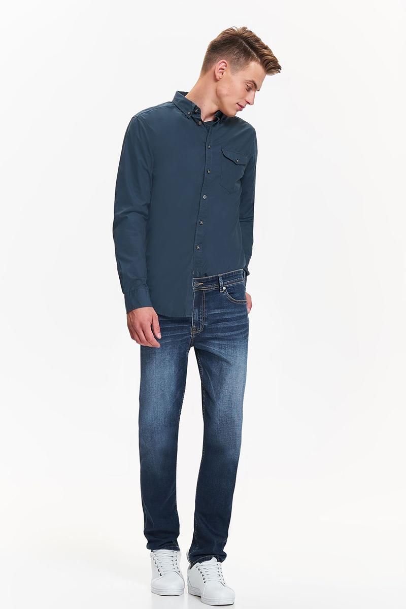 Рубашка мужская Top Secret, цвет: зеленый. SKL2434CZ. Размер 44/45 (52)SKL2434CZСтильная мужская рубашка Top Secret выполнена из высококачественного материала. Модель с отложным воротником и длинными рукавами застегивается на пуговицы спереди. Манжеты рукавов дополнены пуговицами. Оформлена рубашка нагрудным карманом.