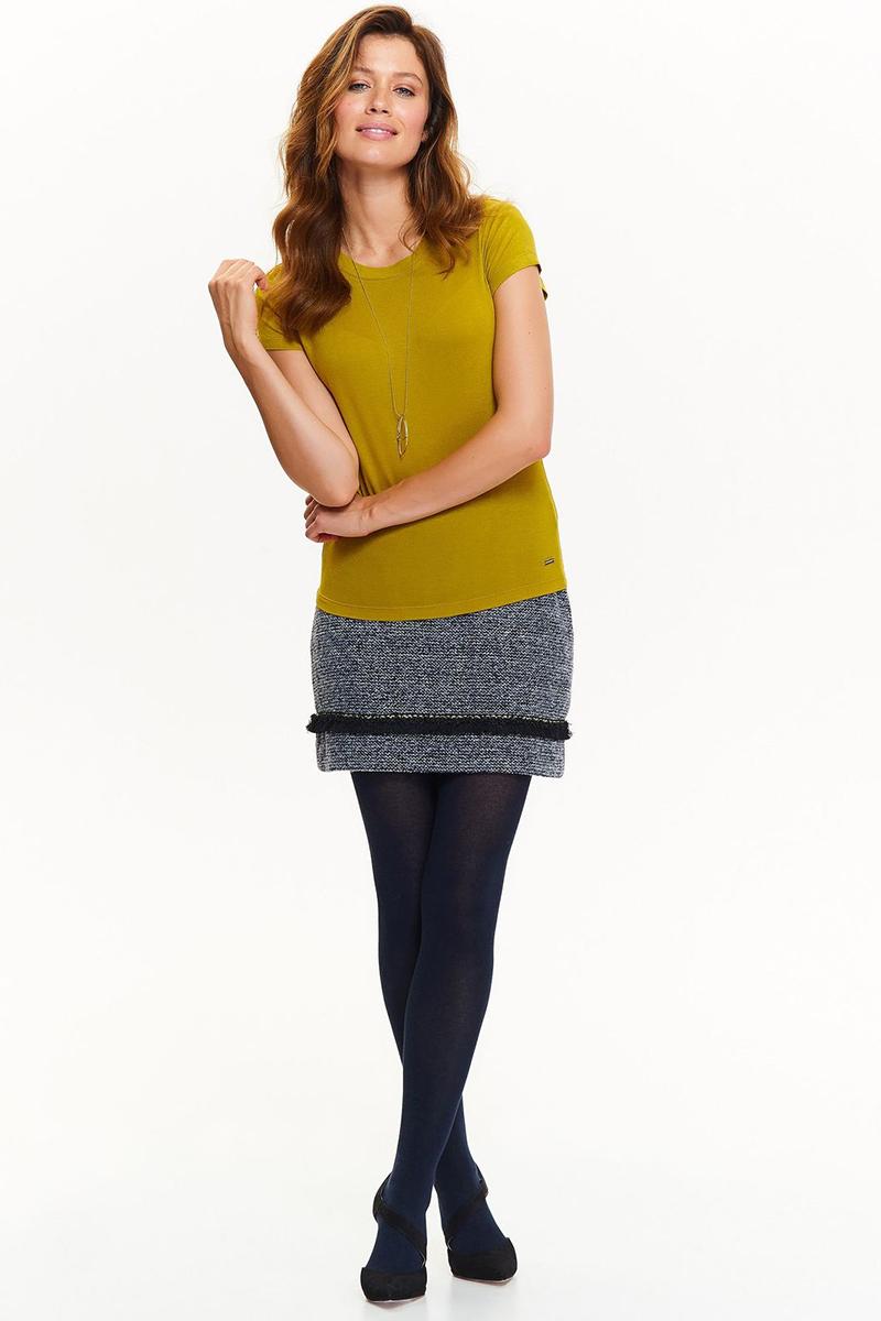 Футболка женская Top Secret, цвет: желтый. SPO3360ZO. Размер 34 (42)SPO3360ZO