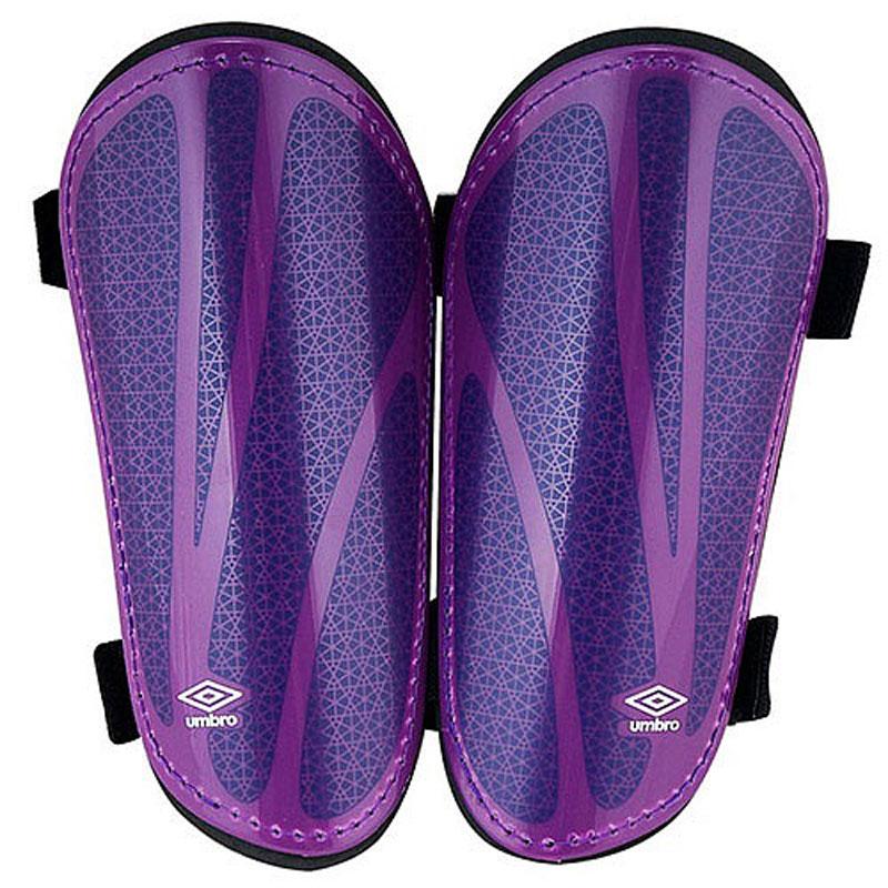Щитки футбольные Umbro  Neo Shield Guard W/Sock , цвет: темно-фиолетовый, фиолетовый, черный. 20503U. Размер M - Футбол
