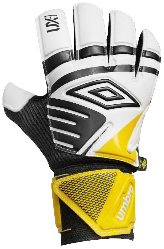 Перчатки вратарские Umbro Ux Precision Glove, цвет: белый, черный, желтый. 20533U. Размер 820533UПерчатки вратарские Umbro для игроков полупрофессионального уровня. Анатомическая ладонь выполнена из технологичного латекса. Вставки из сетки для вентиляции. Эмбоссированная защита зоны удара.