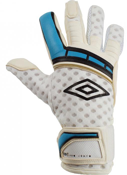 """Перчатки вратарские Umbro """"Neo Pro Vento"""", цвет: белый, синий, золотой. 20429U. Размер 8"""