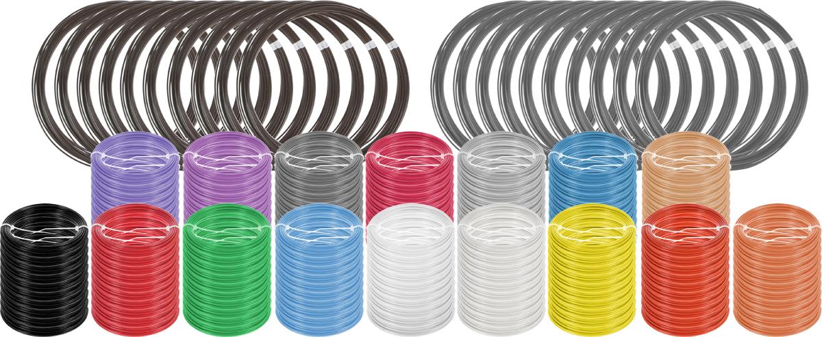 Plastiq пластик ABS 18 цветов по 100 м2990000001740Набор пластика ABS Plastiq - это главный и единственный расходный материал, используя который вы сможете делать мыслимые и немыслимые вещи, подсказанные вашим воображением.Пластик ABS может принимать много разных полимерных форм, ему можно придавать множество самых различных свойств. Его пластичность позволяет легко создавать элементы различных соединений и крепежа.Материал легко шлифуется и обрабатывается. Важно отметить, что ABS пластик растворяется в ацетоне, что позволяет склеивать детали и добиваться очень гладкой поверхности.При плавлении может выделять легкий запах пластмассы.