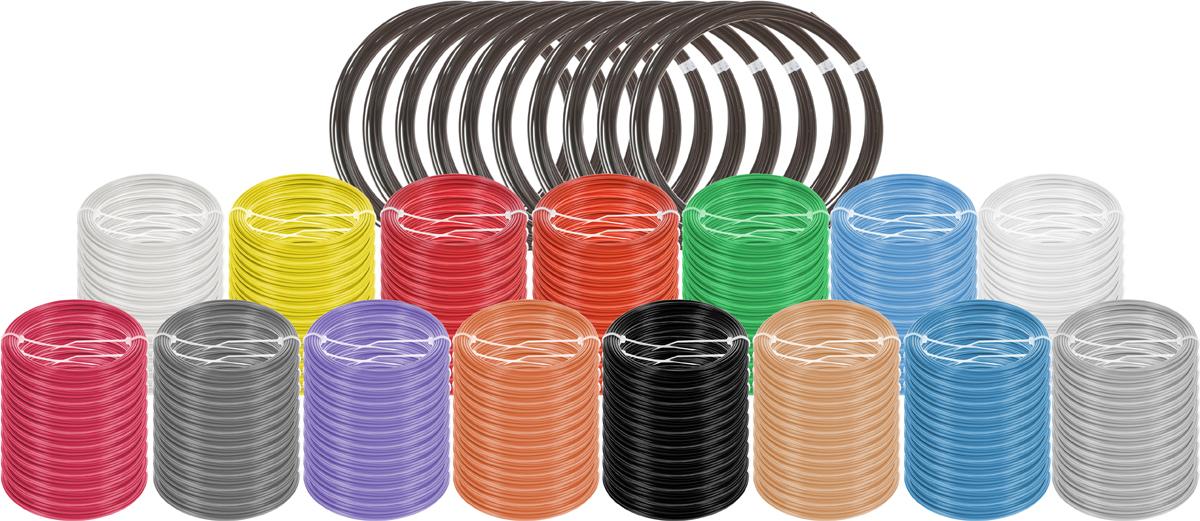 Plastiq пластик ABS 16 цветов по 100 м2990000001696Набор пластика ABS Plastiq - это главный и единственный расходный материал, используя который вы сможете делать мыслимые и немыслимые вещи, подсказанные вашим воображением.Пластик ABS может принимать много разных полимерных форм, ему можно придавать множество самых различных свойств. Его пластичность позволяет легко создавать элементы различных соединений и крепежа.Материал легко шлифуется и обрабатывается. Важно отметить, что ABS пластик растворяется в ацетоне, что позволяет склеивать детали и добиваться очень гладкой поверхности.При плавлении может выделять легкий запах пластмассы.