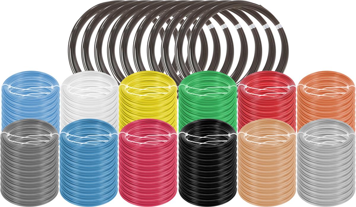 Plastiq пластик ABS 13 цветов по 100 м2990000001658Набор пластика ABS Plastiq - это главный и единственный расходный материал, используя который вы сможете делать мыслимые и немыслимые вещи, подсказанные вашим воображением.Пластик ABS может принимать много разных полимерных форм, ему можно придавать множество самых различных свойств. Его пластичность позволяет легко создавать элементы различных соединений и крепежа.Материал легко шлифуется и обрабатывается. Важно отметить, что ABS пластик растворяется в ацетоне, что позволяет склеивать детали и добиваться очень гладкой поверхности.При плавлении может выделять легкий запах пластмассы.