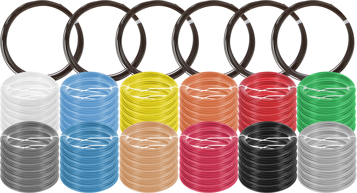 Plastiq пластик ABS 13 цветов по 60 м2990000001641Набор пластика ABS Plastiq - это главный и единственный расходный материал, используя который вы сможете делать мыслимые и немыслимые вещи, подсказанные вашим воображением.Пластик ABS может принимать много разных полимерных форм, ему можно придавать множество самых различных свойств. Его пластичность позволяет легко создавать элементы различных соединений и крепежа.Материал легко шлифуется и обрабатывается. Важно отметить, что ABS пластик растворяется в ацетоне, что позволяет склеивать детали и добиваться очень гладкой поверхности.При плавлении может выделять легкий запах пластмассы.