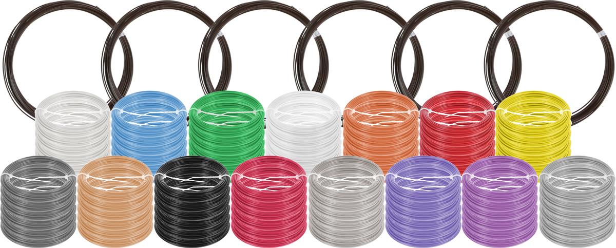 Plastiq пластик ABS 16 цветов по 60 м2990000001689Набор пластика ABS Plastiq - это главный и единственный расходный материал, используя который вы сможете делать мыслимые и немыслимые вещи, подсказанные вашим воображением.Пластик ABS может принимать много разных полимерных форм, ему можно придавать множество самых различных свойств. Его пластичность позволяет легко создавать элементы различных соединений и крепежа.Материал легко шлифуется и обрабатывается. Важно отметить, что ABS пластик растворяется в ацетоне, что позволяет склеивать детали и добиваться очень гладкой поверхности.При плавлении может выделять легкий запах пластмассы.