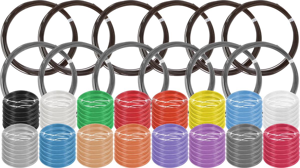 Plastiq пластик ABS 18 цветов по 60 м2990000001733Набор пластика ABS Plastiq - это главный и единственный расходный материал, используя который вы сможете делать мыслимые и немыслимые вещи, подсказанные вашим воображением.Пластик ABS может принимать много разных полимерных форм, ему можно придавать множество самых различных свойств. Его пластичность позволяет легко создавать элементы различных соединений и крепежа.Материал легко шлифуется и обрабатывается. Важно отметить, что ABS пластик растворяется в ацетоне, что позволяет склеивать детали и добиваться очень гладкой поверхности.При плавлении может выделять легкий запах пластмассы.