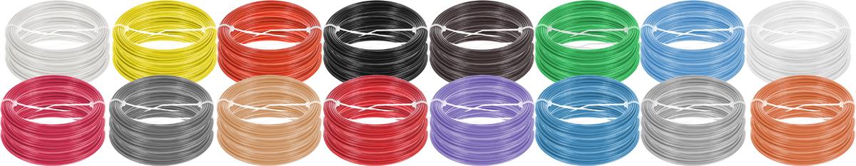 Plastiq пластик ABS 16 цветов по 30 м2990000001672Набор пластика ABS Plastiq - это главный и единственный расходный материал, используя который вы сможете делать мыслимые и немыслимые вещи, подсказанные вашим воображением.Пластик ABS может принимать много разных полимерных форм, ему можно придавать множество самых различных свойств. Его пластичность позволяет легко создавать элементы различных соединений и крепежа.Материал легко шлифуется и обрабатывается. Важно отметить, что ABS пластик растворяется в ацетоне, что позволяет склеивать детали и добиваться очень гладкой поверхности.При плавлении может выделять легкий запах пластмассы.