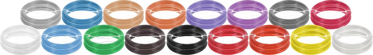 Plastiq пластик ABS 17 цветов по 20 м2990000001764Набор пластика ABS Plastiq - это главный и единственный расходный материал, используя который вы сможете делать мыслимые и немыслимые вещи, подсказанные вашим воображением.Пластик ABS может принимать много разных полимерных форм, ему можно придавать множество самых различных свойств. Его пластичность позволяет легко создавать элементы различных соединений и крепежа.Материал легко шлифуется и обрабатывается. Важно отметить, что ABS пластик растворяется в ацетоне, что позволяет склеивать детали и добиваться очень гладкой поверхности.При плавлении может выделять легкий запах пластмассы.