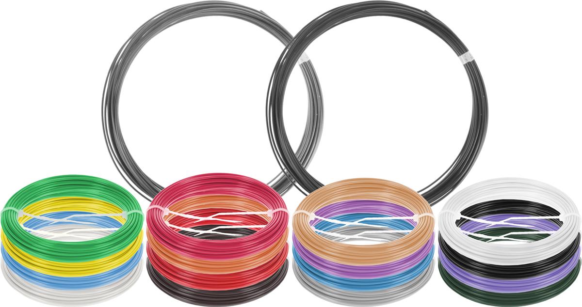 Dewang пластик ABS 18 цветов по 10 м2990000001405Набор пластика ABS Dewang - это главный и единственный расходный материал, используя который вы сможете делать мыслимые и немыслимые вещи, подсказанные вашим воображением.Пластик ABS может принимать много разных полимерных форм, ему можно придавать множество самых различных свойств. Его пластичность позволяет легко создавать элементы различных соединений и крепежа.Материал легко шлифуется и обрабатывается. Важно отметить, что ABS пластик растворяется в ацетоне, что позволяет склеивать детали и добиваться очень гладкой поверхности.При плавлении может выделять легкий запах пластмассы.
