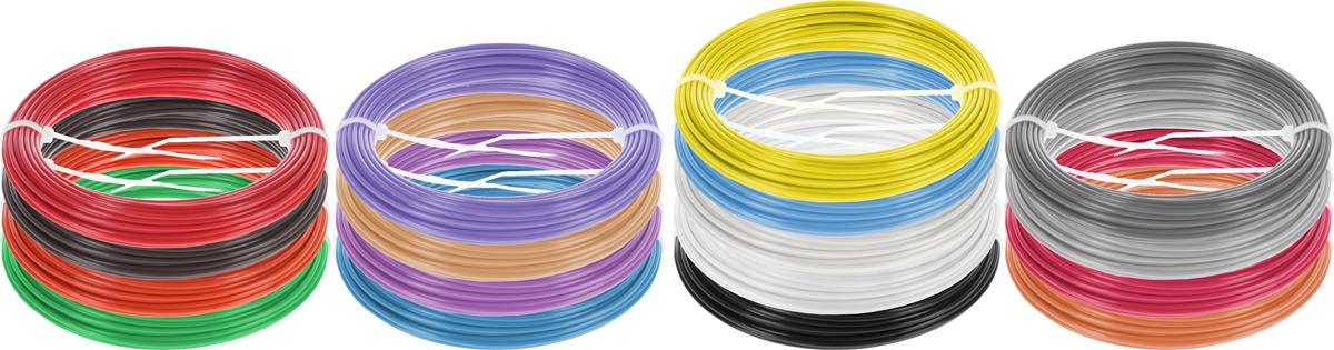 Plastiq пластик ABS 17 цветов по 10 м2990000001757Набор пластика ABS Plastiq - это главный и единственный расходный материал, используя который вы сможете делать мыслимые и немыслимые вещи, подсказанные вашим воображением.Пластик ABS может принимать много разных полимерных форм, ему можно придавать множество самых различных свойств. Его пластичность позволяет легко создавать элементы различных соединений и крепежа.Материал легко шлифуется и обрабатывается. Важно отметить, что ABS пластик растворяется в ацетоне, что позволяет склеивать детали и добиваться очень гладкой поверхности.При плавлении может выделять легкий запах пластмассы.