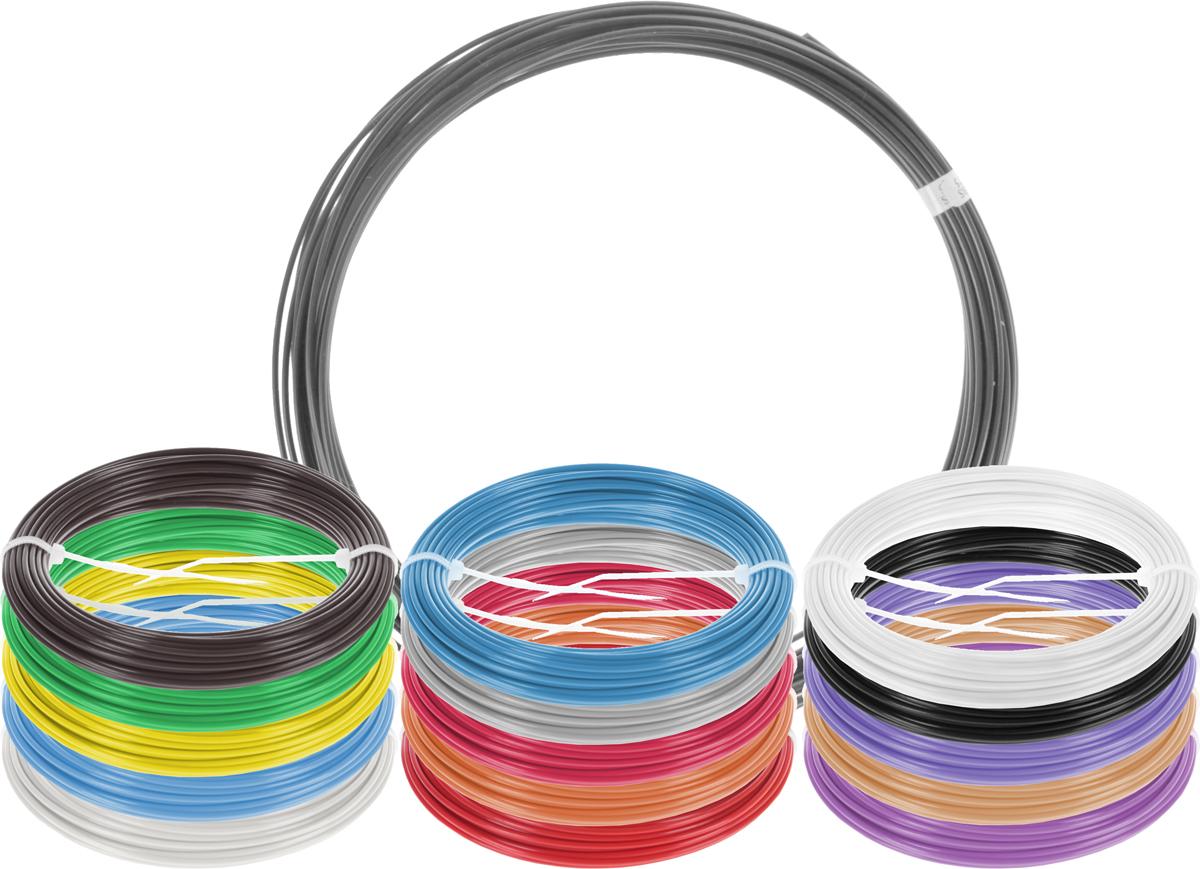 Plastiq пластик ABS 16 цветов по 10 м2990000001665Набор пластика ABS Plastiq - это главный и единственный расходный материал, используя который вы сможете делать мыслимые и немыслимые вещи, подсказанные вашим воображением.Пластик ABS может принимать много разных полимерных форм, ему можно придавать множество самых различных свойств. Его пластичность позволяет легко создавать элементы различных соединений и крепежа.Материал легко шлифуется и обрабатывается. Важно отметить, что ABS пластик растворяется в ацетоне, что позволяет склеивать детали и добиваться очень гладкой поверхности.При плавлении может выделять легкий запах пластмассы.