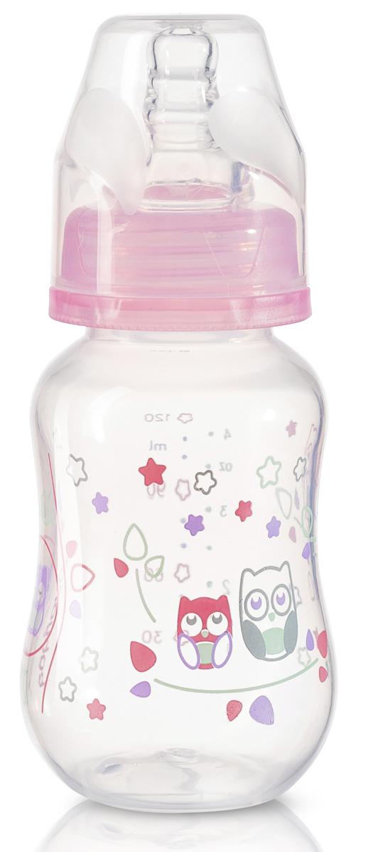 BabyOno Бутылочка антиколиковая от 0 месяцев цвет розовый 120 мл