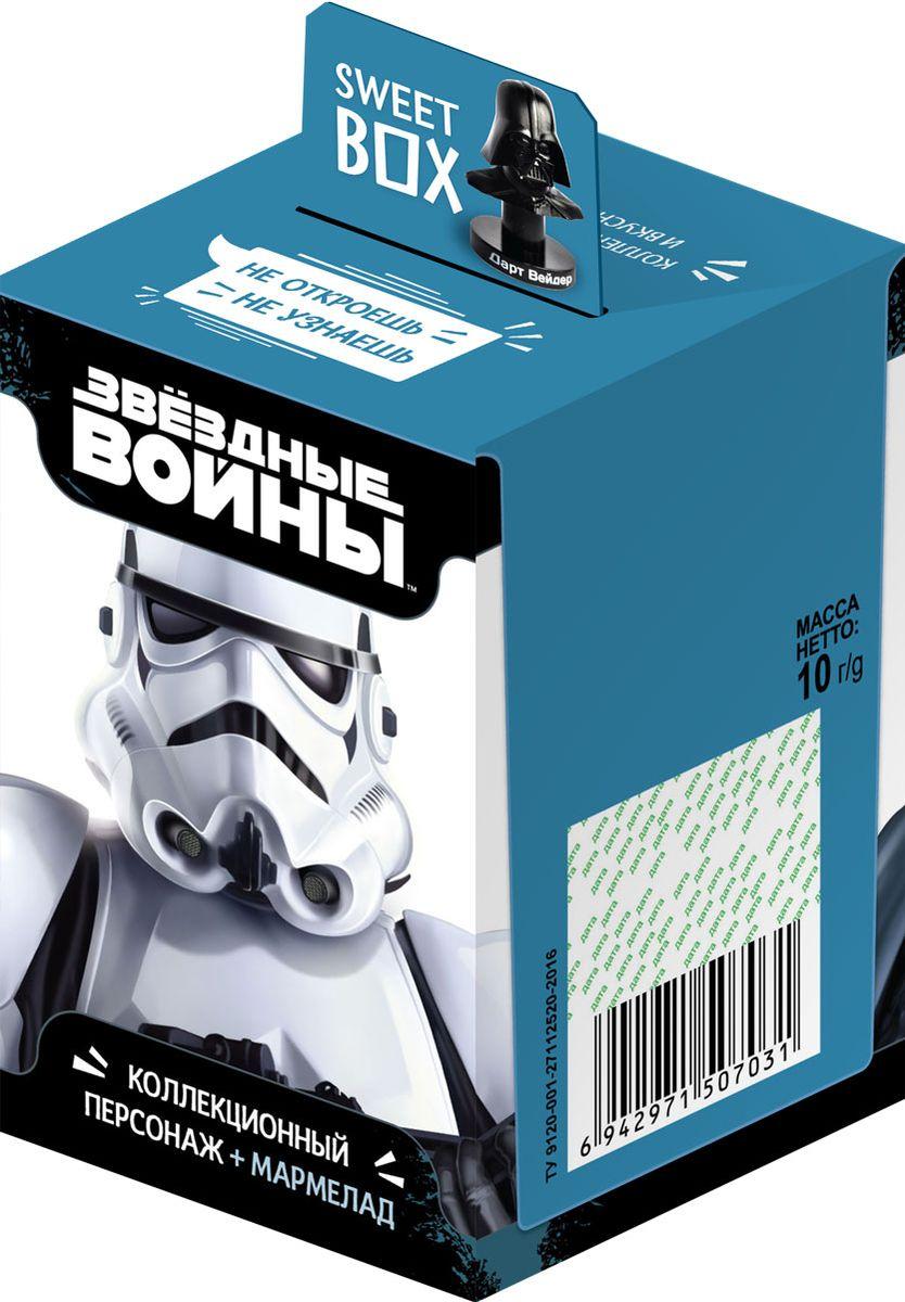 Конфитрейд SweetBox Звездные воины мармелад с игрушкой в коробочке, 10 гУТ21339Всего 6 игрушек в коллекции.