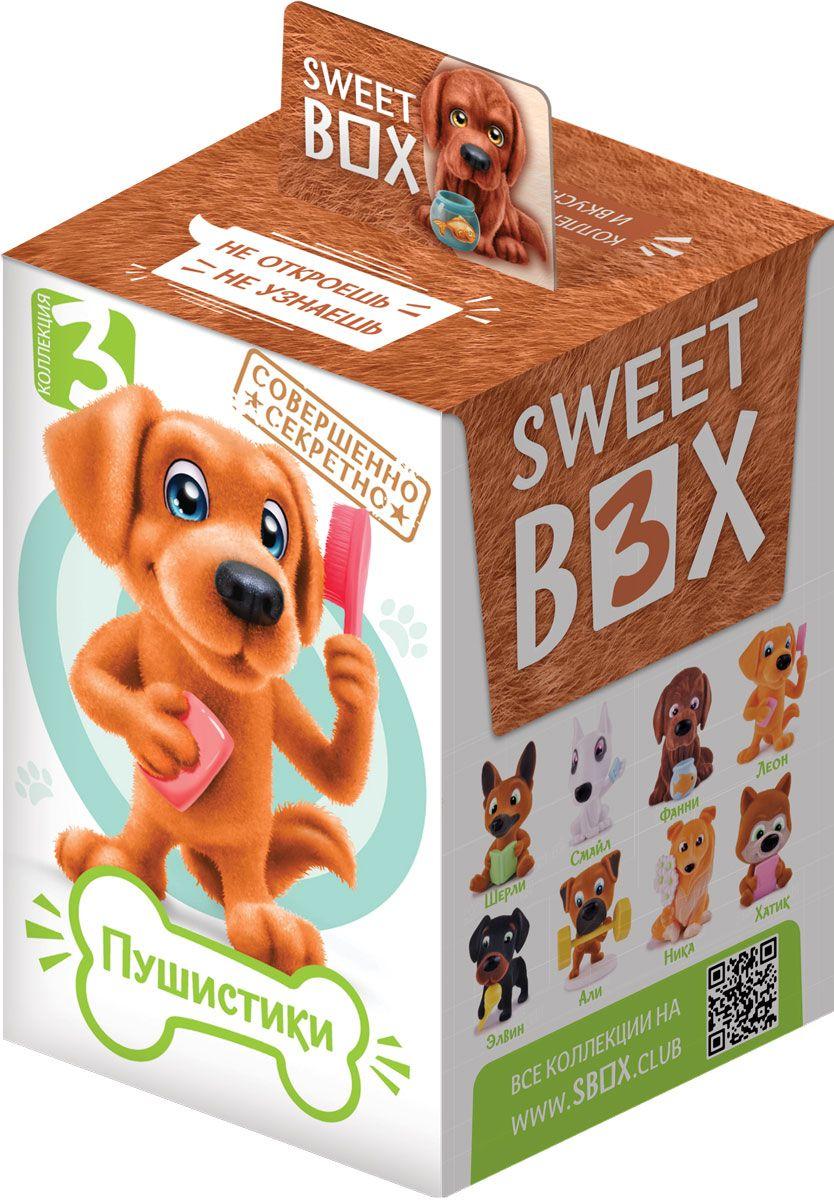 Конфитрейд SweetBox Пушистики щенята- 3 мармелад с игрушкой, 10 гУТ225878 увлекательных персонажей с интересными аксессуарами и хобби.
