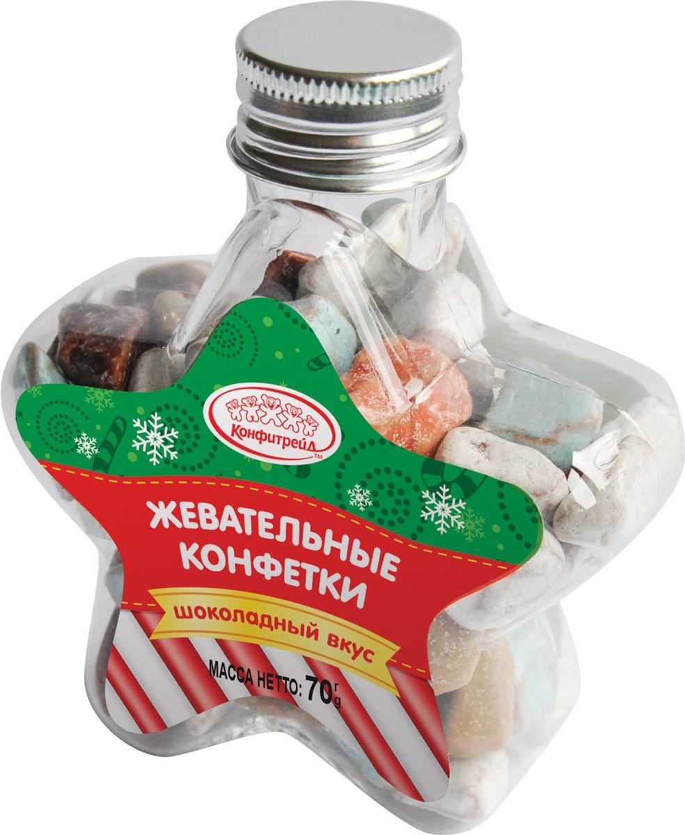 Конфитрейд жевательные конфеты, 70 г добрый сок яблочный 0 2 л