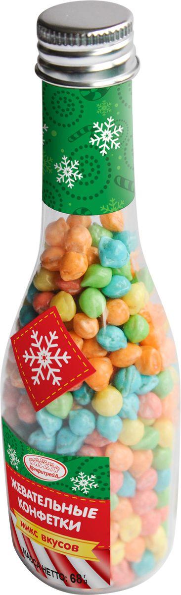 Конфитрейд жевательные конфеты, 68 гУТ22728Жевательные разноцветные конфетки упакованы в пластиковую бутылочку.