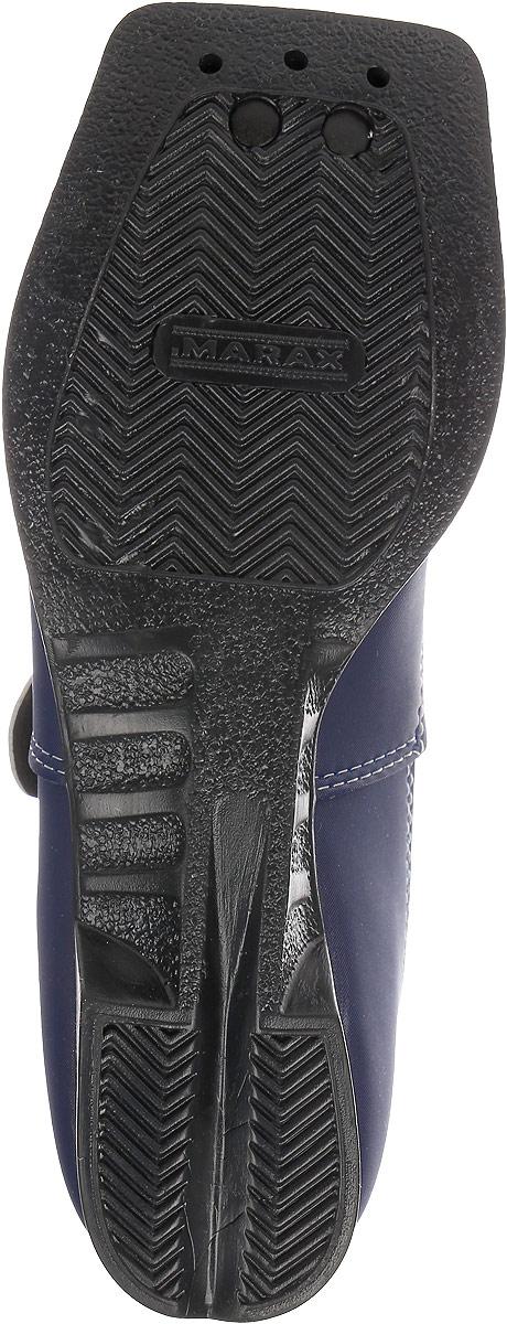 Ботинки лыжные детские Marax, цвет:  синий, серый.  NN75.  Размер 34 Marax