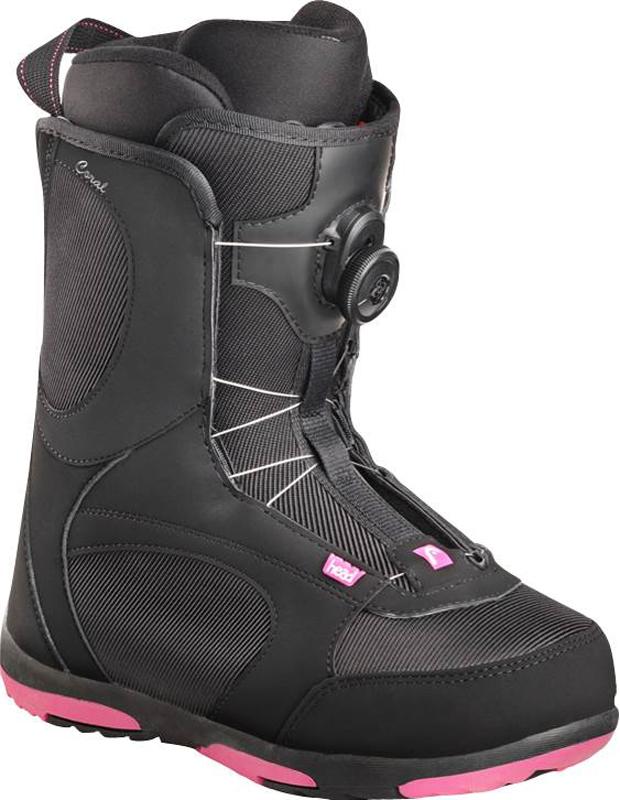 Ботинки для сноуборда женские Head Coral Boa, цвет: черный. 354507. Размер 25,5